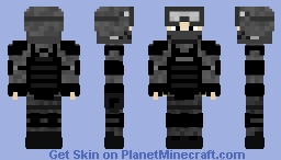 Shock Soldier (Grey Uniform) Minecraft Skin