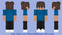 Blue Shirt Minecraft Skin