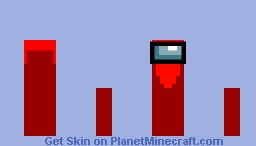 Among Us Red Minecraft Skin