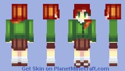 Alex in a green cardigan Minecraft Skin