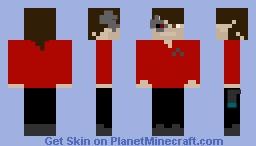 Cyborg Star Trek Engineer/Guard/Captain Minecraft Skin
