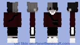 grunge goth boy Minecraft Skin