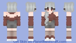 Just my sona in a red sweater Minecraft Skin