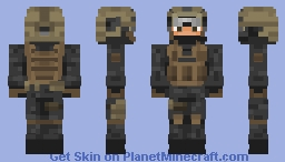 Shadow Company Soldier (Goggles off) - Modern Warfare 2 Minecraft Skin