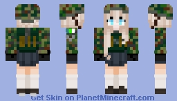 Gurenian Female Operative Minecraft Skin