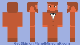 Copper Abraham Lincon Minecraft Skin