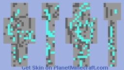 Diamond Ore Minecraft Skin