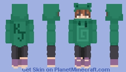 Karl Jacobs frog hoodie Minecraft Skin