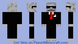 Agent Skeleton Minecraft Skin