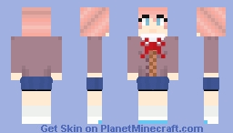 Sayori (DDLC) Minecraft Skin
