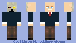 Two faces Of Deadly Human Professor Littlefoot (state of survival) Minecraft Skin