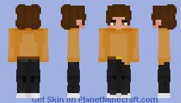 Orange Sweater Minecraft Skin