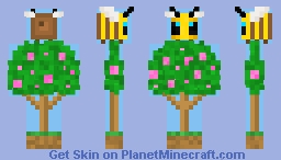 Bee in the Bush (The Bees Knees Event) Minecraft Skin