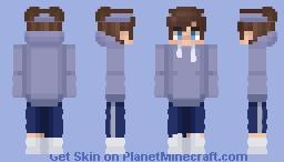 blue hoodie eboy Minecraft Skin