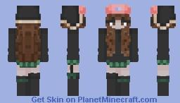 girl in a hat Minecraft Skin