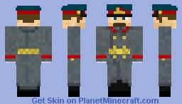 Soviet army officer winter parade uniform