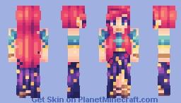 flaming heart - 3 years skinning Minecraft Skin