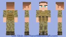 Young Marine Soldier Minecraft Skin
