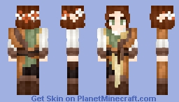 𝓡𝓸𝔃𝒆 || Medieval | Elven Noble Lady Minecraft Skin