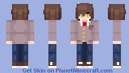 [BONUS] Main Character [Doki Dok Literature Club] (MMD Version) Minecraft Skin