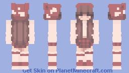 Mooshroom Girl Minecraft Skin