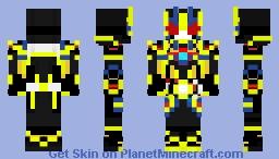 Kamen rider Zero One Shining Assault Hopper Minecraft Skin