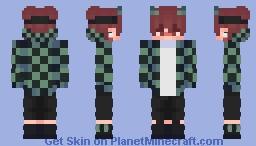 [ DEMON SLAYER ] Tanjiro themed Minecraft Skin