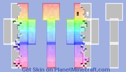 Rainbow Corruption Minecraft Skin