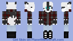 Asriel the Alaskian Silver Fox Minecraft Skin