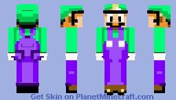 Luigi - Super Mario All-Stars + Super Mario World (Read Description) Minecraft Skin