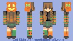 . pumpkin . skintober day 12 . Minecraft Skin