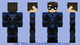 Nightwing | DC Custom | Dick Grayson Minecraft Skin