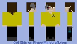 Cyborg Star Trek Captain Minecraft Skin