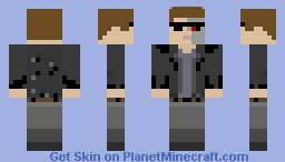 T-850 Terminator Minecraft Skin
