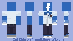 Humanized Facebook Minecraft Skin