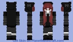 Girl black cat (1) Minecraft Skin