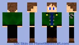 Boy Green Jacket Jeans Boots Minecraft Skin