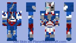 Zombie iron patriot Minecraft Skin