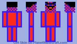 evil pattern man Minecraft Skin