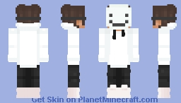 White Hoodie V2 Minecraft Skin