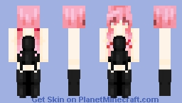 ~Yuno Gassai Black Dress~ Minecraft Skin