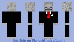 Skeleton in a suit Minecraft Skin