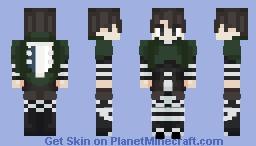 Captain Levi (AOT) Minecraft Skin