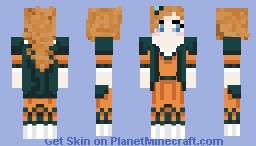 Orange Dress Minecraft Skin