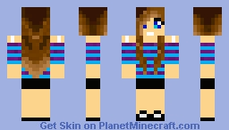 Helga Anderson (Young girl) from Caillou movies 2028 Minecraft Skin