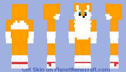 Tails The Fox - Sonic The Hedgehog Minecraft Skin