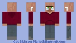 Hoodie Villager Minecraft Skin