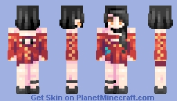 ♡ 𝓿𝒶𝓁𝓀𝓎𝓇𝒾𝑒𝓃 ♡ cinder fall | rwby (+ 2 alts. in desc) Minecraft Skin