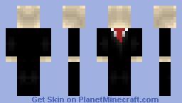 Slender Man (Myth or Reality?) Minecraft Skin