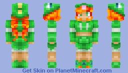 Green Pyjama Girl Minecraft Skin